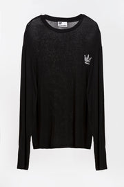 royal knit black