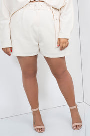 tailored shorts cream