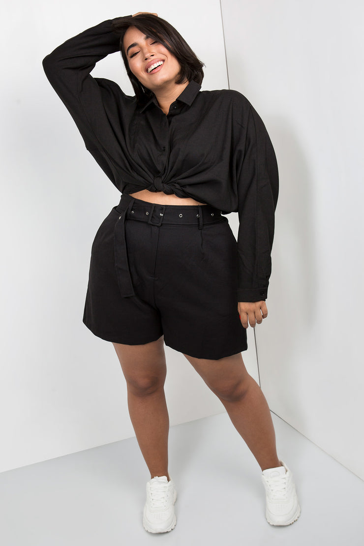 tailored shorts black