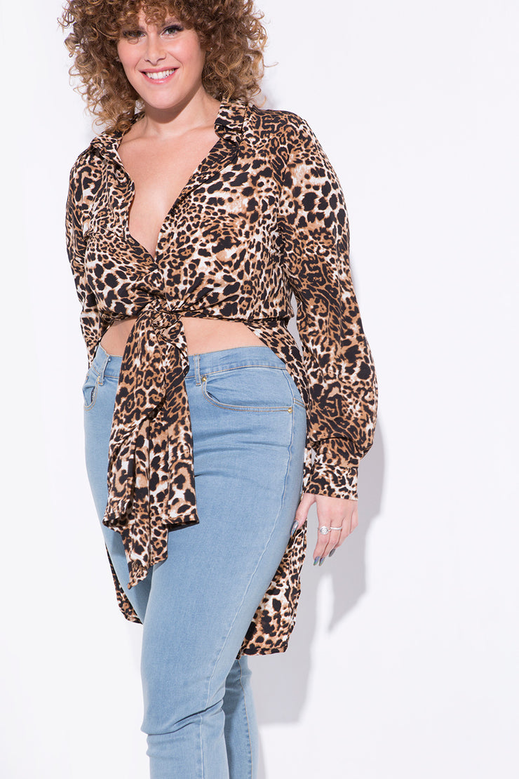 whatever shirt leopard