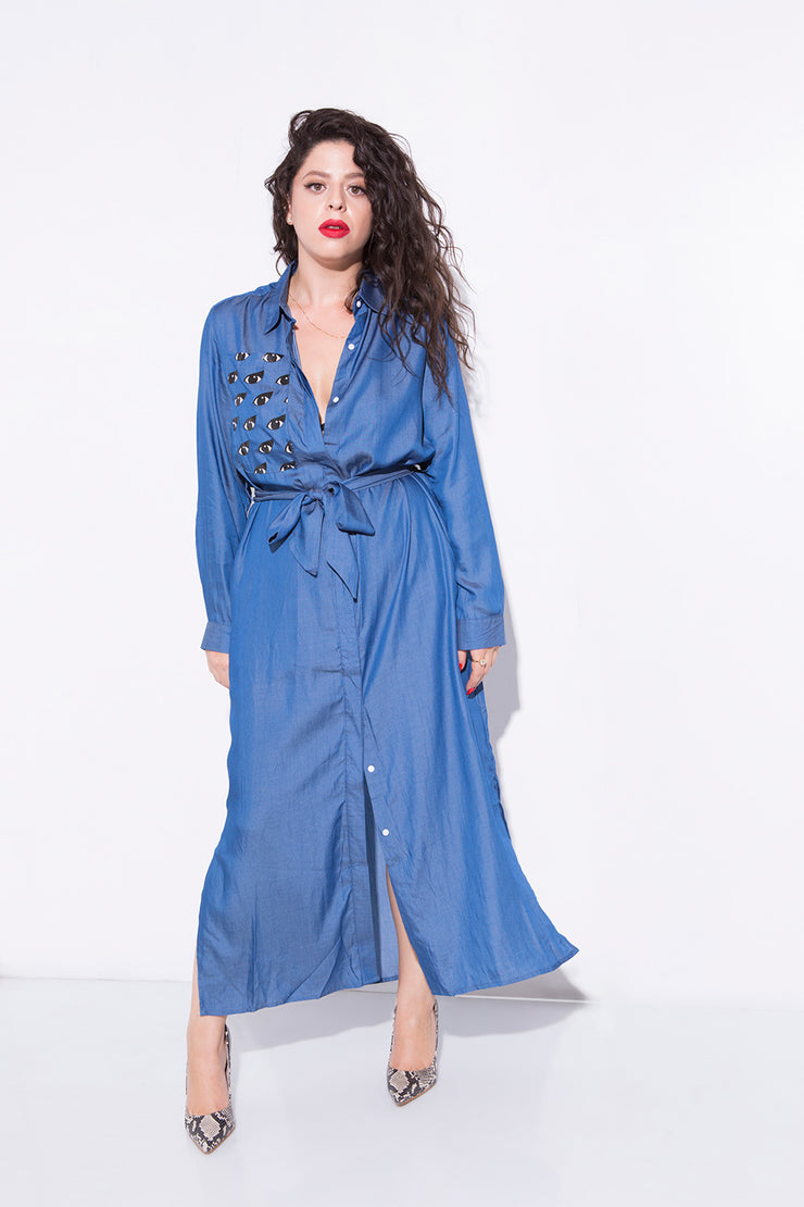 good eye denim dress
