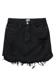 denim mini skirt black