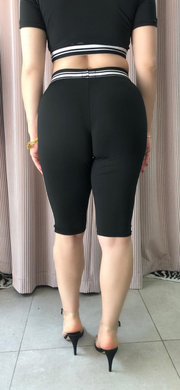 too good legging shorts black