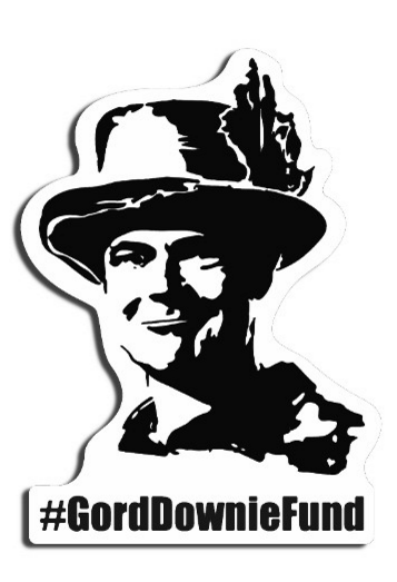 #GordDownieFund Sticker with Mr. Gord Downie