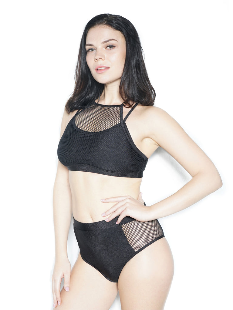 ACTIVE MESH TOP BLACK