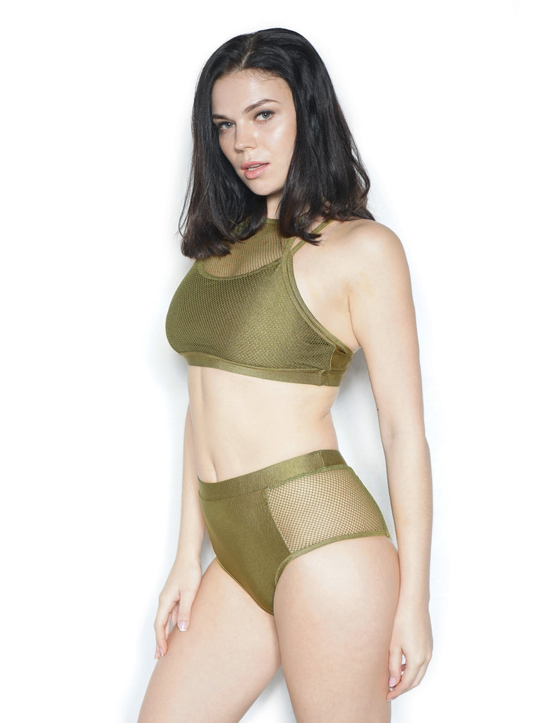 ACTIVE MESH TOP GREEN