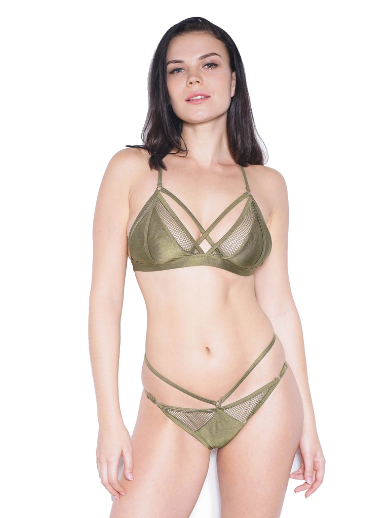 FLAUNT TOP GREEN