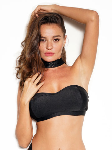 FLAUNT TOP BLACK