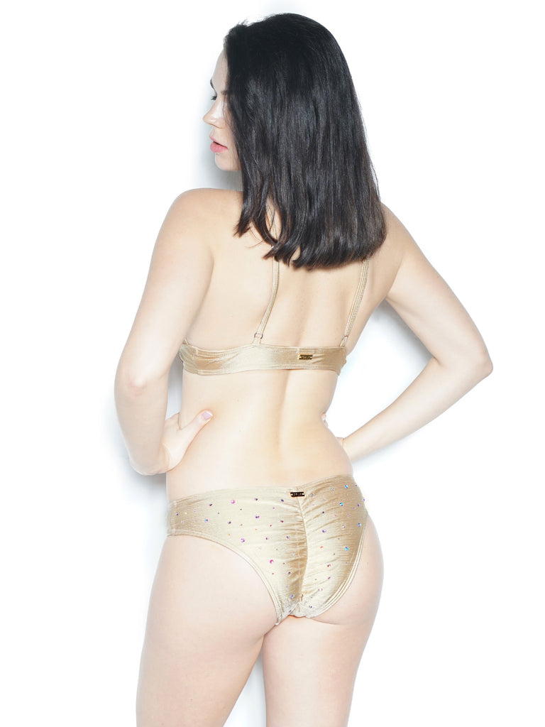 VIRGO BOTTOM WITH RHINESTONES BEIGE