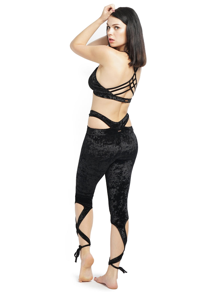 VELVET BALLERINA LEGGINGS BLACK