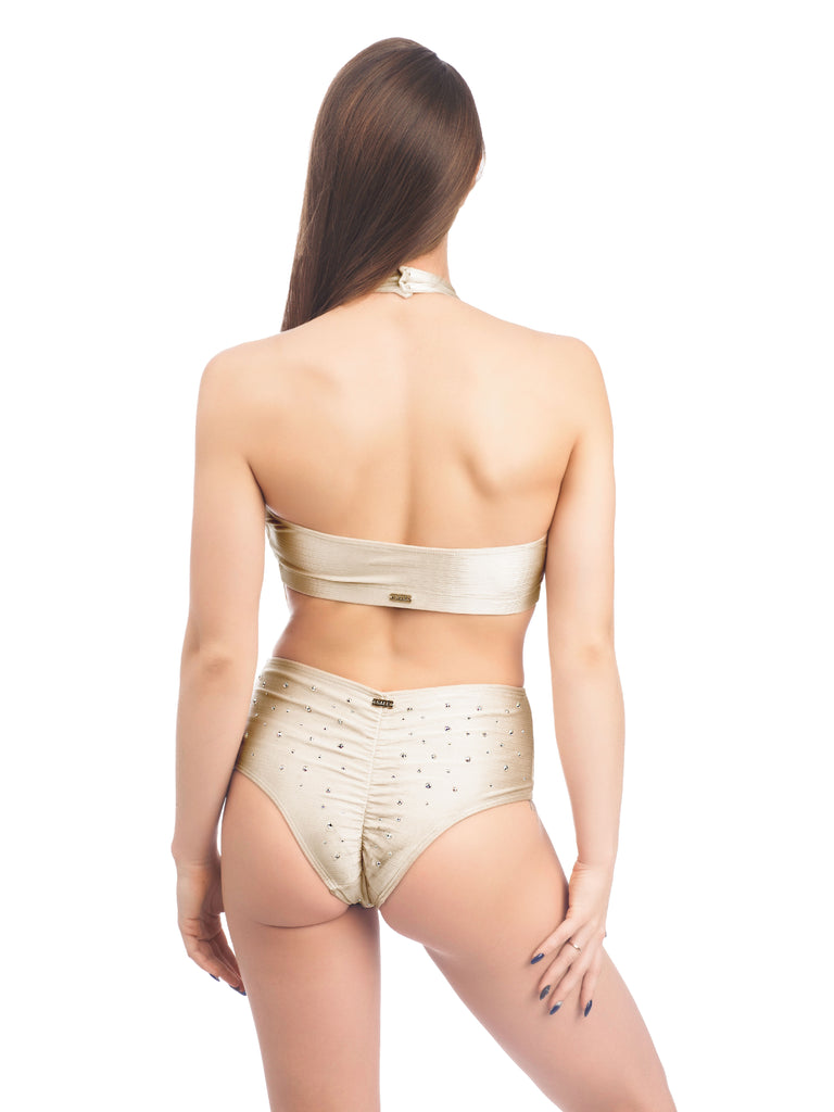 DANCER BOTTOM WITH RHINESTONES BEIGE
