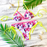 Endless Summer Contrast Edge Bottom - Tropical Pink