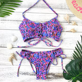 New Romance Tie Front Bottom - Glow Noodle