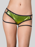 Suspenders Cutout Cheeky Shorts Green
