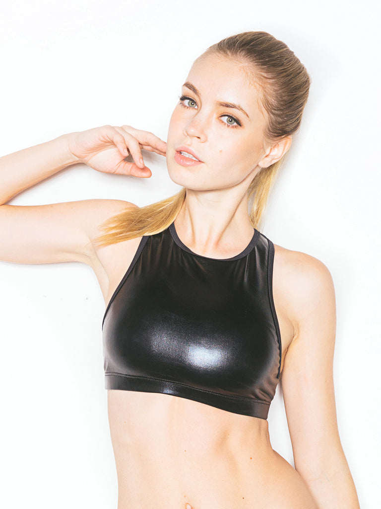 Sporty Crop Top Black