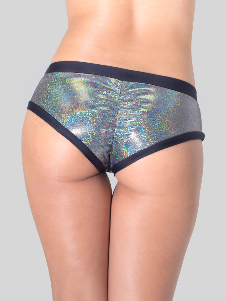 Unicorn Booty Shorts Glittery Black