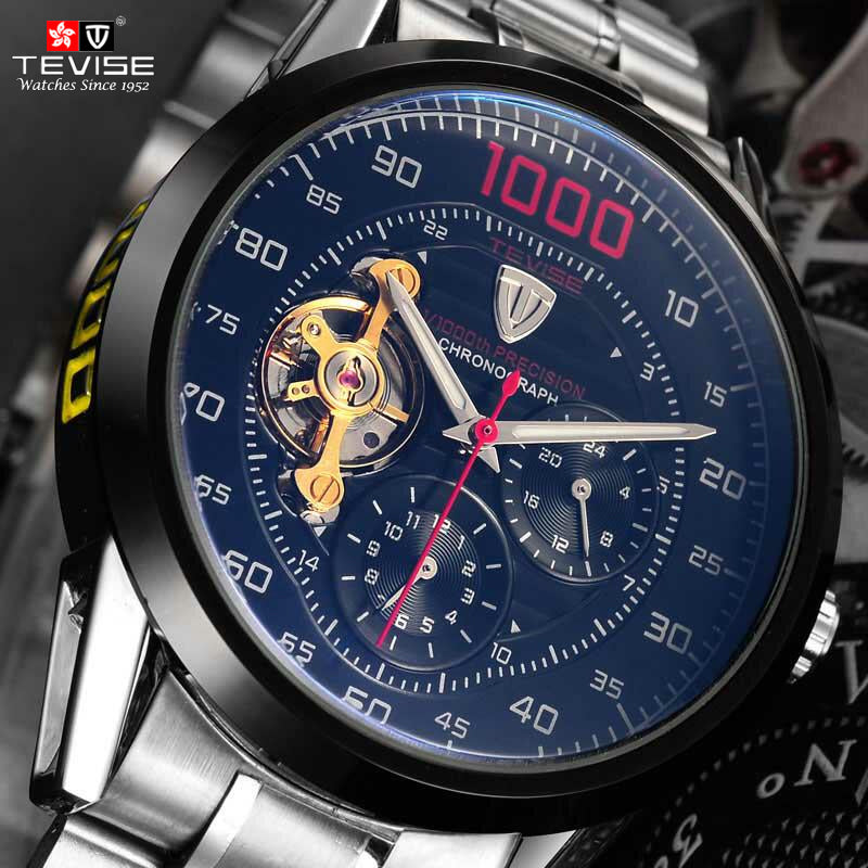 44d976ddf14 Tevise Brand Fashion Luxury Relogio Men s Watches Automatic Watch Self-Wind  Clock Male Business Waterproof
