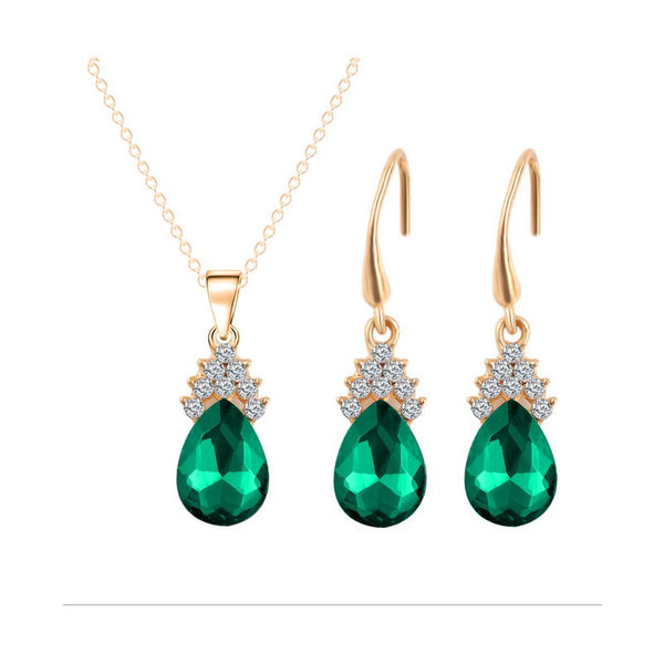 Crystal Water Drop Jewelry Set