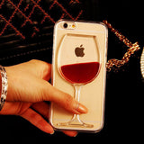 Red Wine Clear Transparent iPhone Case
