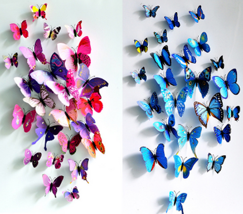 3D Butterflies Magnets - 12pcs - Free Shipping Worldwide-Magnets-Great Deals and More