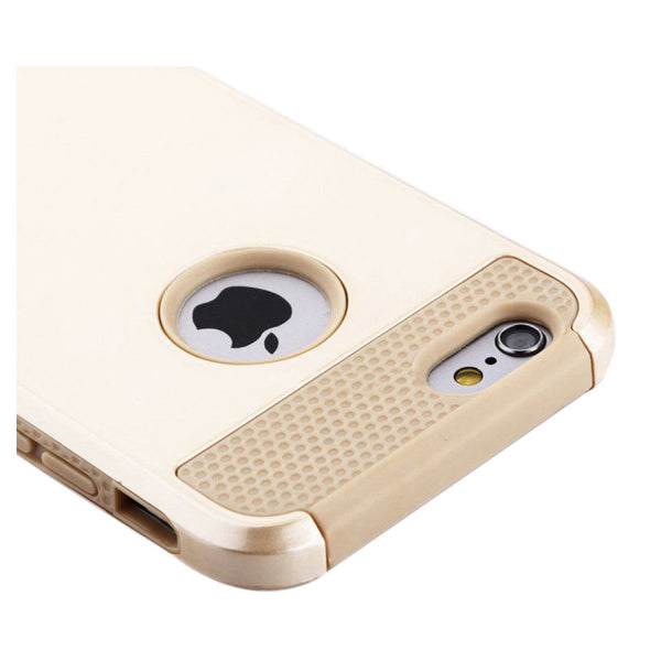 FOR GOLD IPHONE 6S PLUS CASE HYBRID SHOCKPROOF HARD HEAVY DUTY RUBBER IPHONE 6S PLUS COVER - Offer(JUST PAY SHIPPING & HANDLING)
