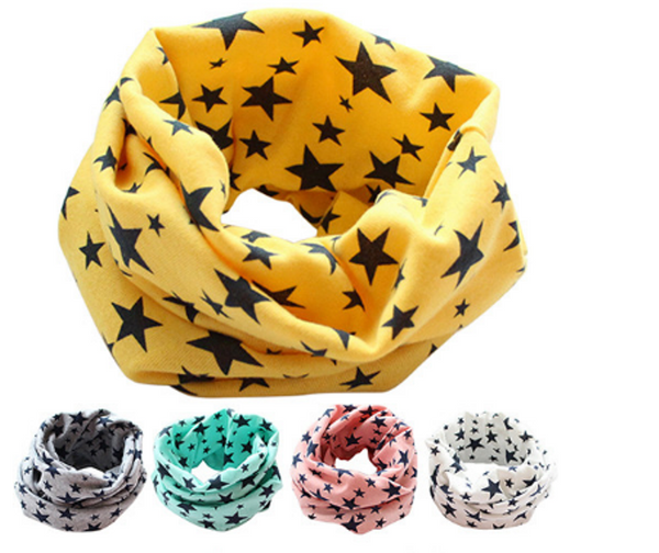Children's Cotton Stars Printed Neckerchief - FREE SHIPPING
