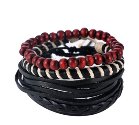 Men/Women Multilayer Leather Bracelets - FREE SHIPPING-Bracelets-Great Deals and More