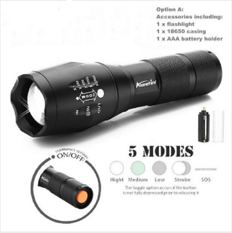 Alonefire Tactical Flashlight Torch