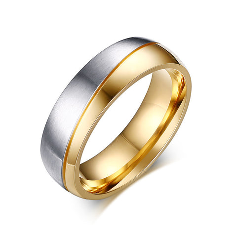 Gold Plated Stainless Steel Wedding Rings - Free Shipping Worldwide-Wedding Rings-Great Deals and More