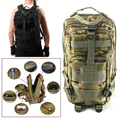 3P Army Backpack Oxford Sport Bag for Camping/Traveling/Hiking/Trekking 25L - Great Deals and More