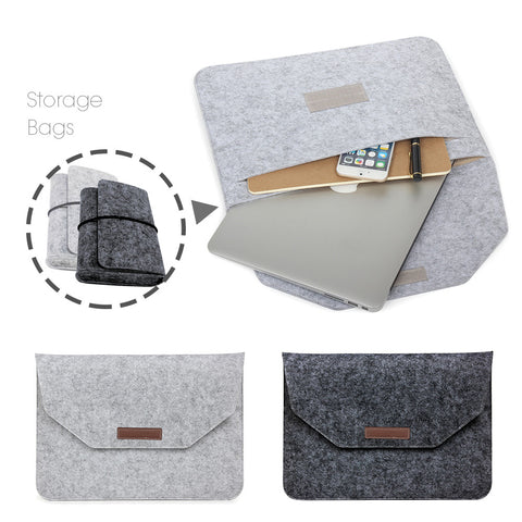 Soft Sleeve Bag Case For Apple Macbook Air Pro Retina 11 12 13 15 Laptop Anti-scratch Cover For Macbook 13.3 inch - Great Deals and More