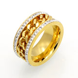 High Quality Gold Plated Crystal Rings-Rings-Great Deals and More