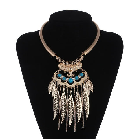 Statement Leaf Necklace - Great Deals and More