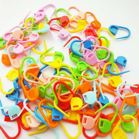 100Pcs/set Colorful Plastic Knitting/ Crochet Locking Stitch Markers - Great Deals and More