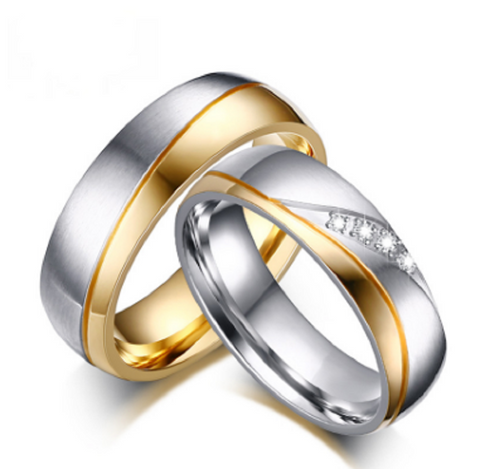 Gold Plated Stainless Steel Wedding Rings - Free Shipping Worldwide  Great Deals and More