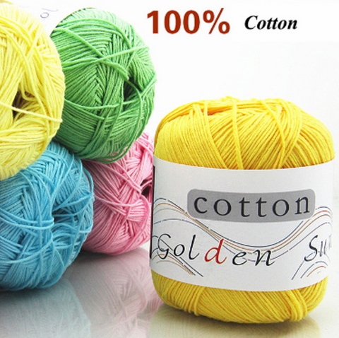 100% Cotton Crochet Yarn 50g  - Great Deals and More