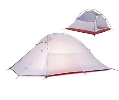 2 Person Double Layers Aluminum Camping/Garden/Fishing/Travel Tent - Great Deals and More