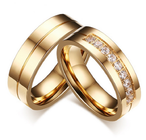 Gold Plated Stainless Steel Wedding Bands Rings   Great Deals and More
