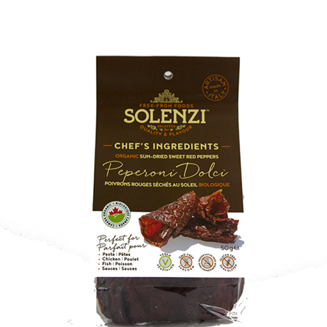 Organic Sun-dried Sweet Red Peppers - Peperoni Dolci 50g