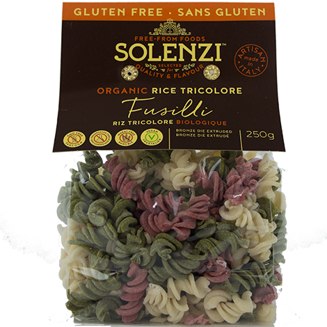 Organic Beetroot, Spinach & Rice Fusilli 250g