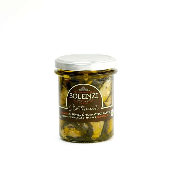 Organic Sundried and Marinated Zucchini 180g