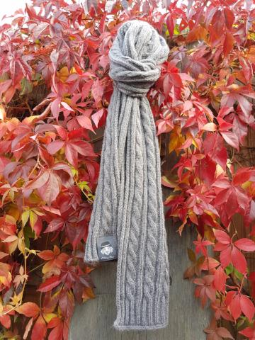 Scarf...for humans - in Grey