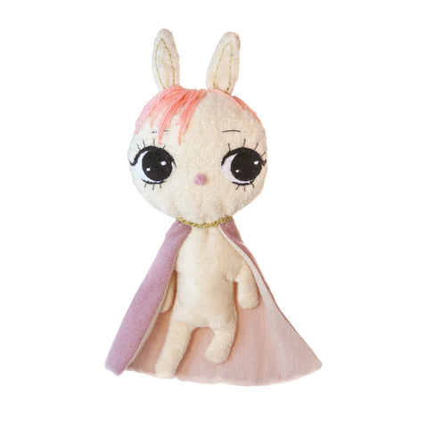 Dollcloud super hero bunny baby nibble blanket with pink hair