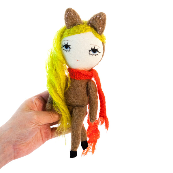 Dollcloud Forest Deer Small Soft Doll Front View