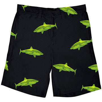 Resort Shorts  - Ocean Tested. Land Approved! GREEN SHARK
