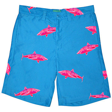 Resort Shorts  - Ocean Tested. Land Approved! PINK SHARK