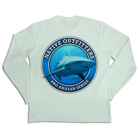 Men's Long Sleeve SPF50+ Sun Shirt - BULL SHARK PRO
