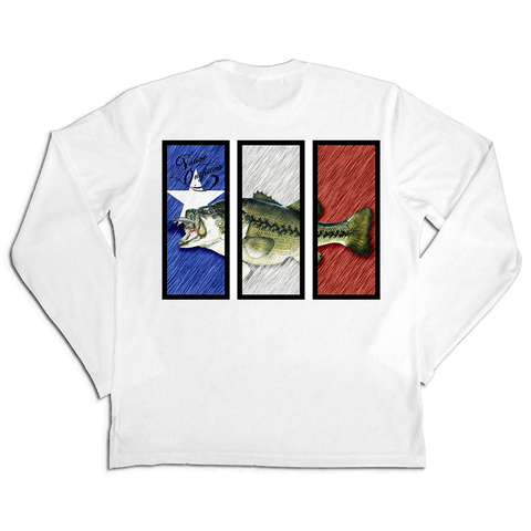 BEST Sun Shirt Men's LS SPF50+ Texas Bass