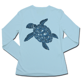Ladies SPF50+ Sun Shirt - Blu TURTLE