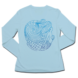 Ladies SPF50+ Sun Shirt - Blu Mermaid